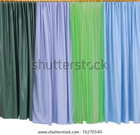 shower curtains isolated