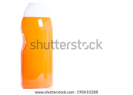 Shower gel isolated on a white background