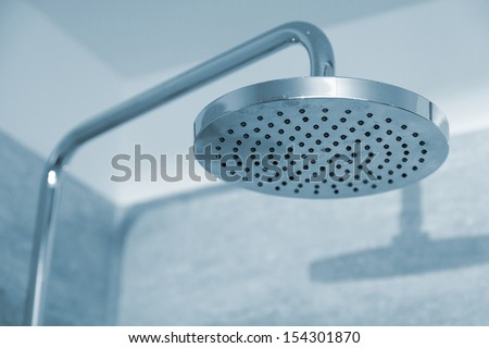 Shower head close-up - stock photo