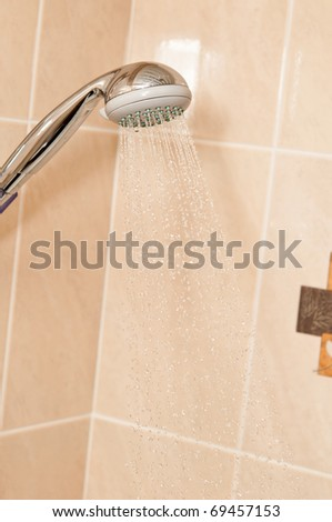 Shower in bathroom - stock photo