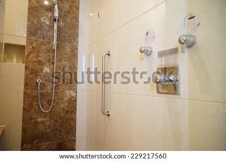 shower room - stock photo