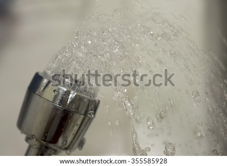 shower sink close - stock photo