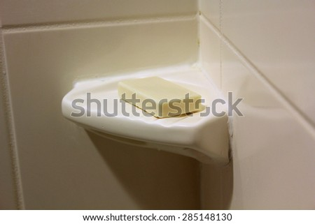 shower soap - stock photo