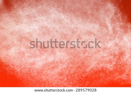 shower water drops,abstract splashes of water on a orange background - stock photo