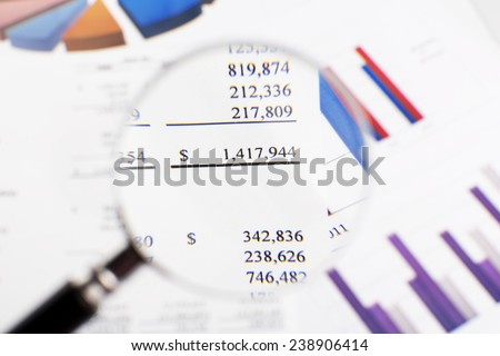 Showing business and financial report. - stock photo