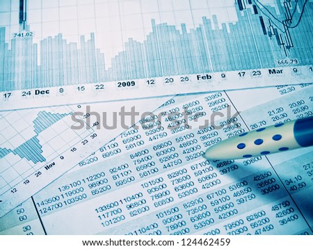 Showing business and financial report  concept
