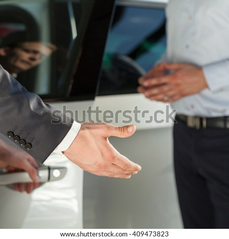 Showing customer new car