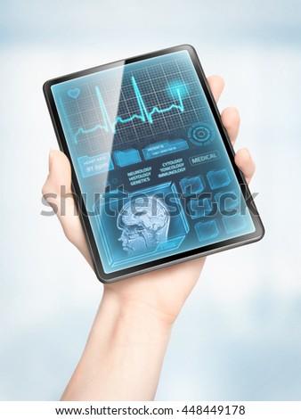 Showing medical data - stock photo