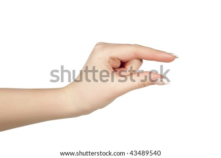 Showing small thing gesture - stock photo