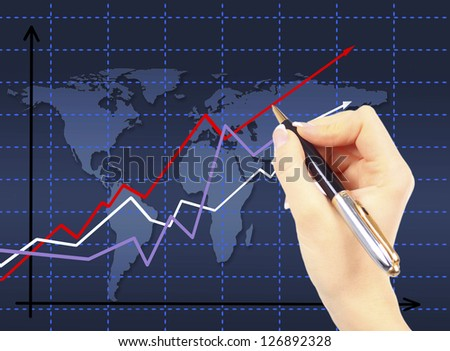 Shows the progress of the business. - stock photo