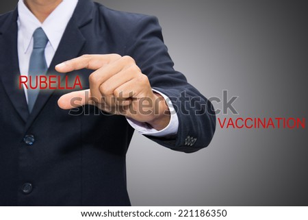 Shows the rubella vaccine. - stock photo