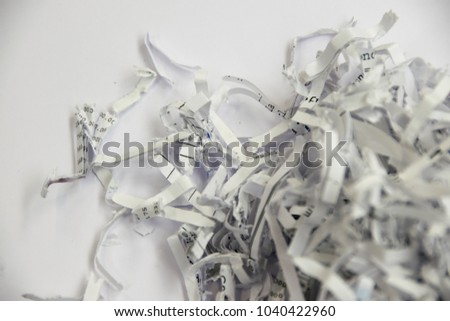 Shredded documents - objects