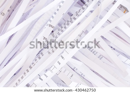 shredded paper - office concept