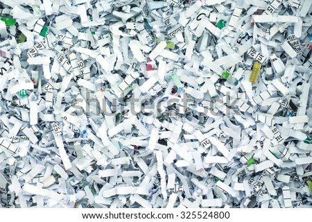 shredded paper security secret recycle background - stock photo