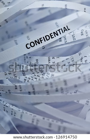 Shredded paper series - confidential - stock photo