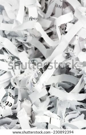 shredded paper, symbolic photo for data destruction, documentation and legacy - stock photo