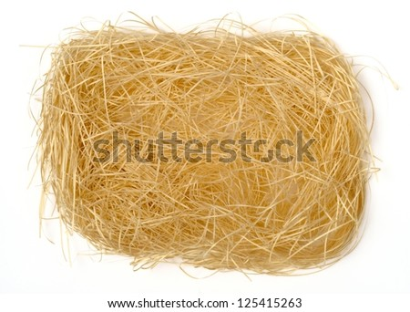shredded paper texture in bird nest shape