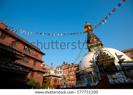 Shree Gha Stupa, in Kathmandu, Nepal - stock photo