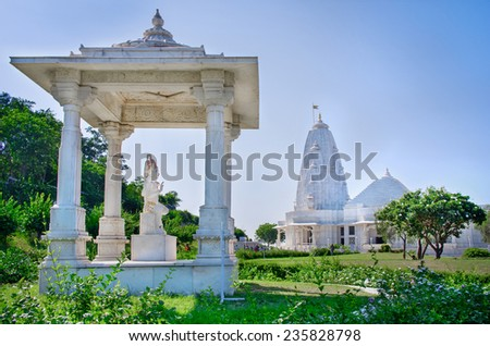 Shri Lakshmi Narayan Temple (Birla Mandir), Jaipur, India - stock photo