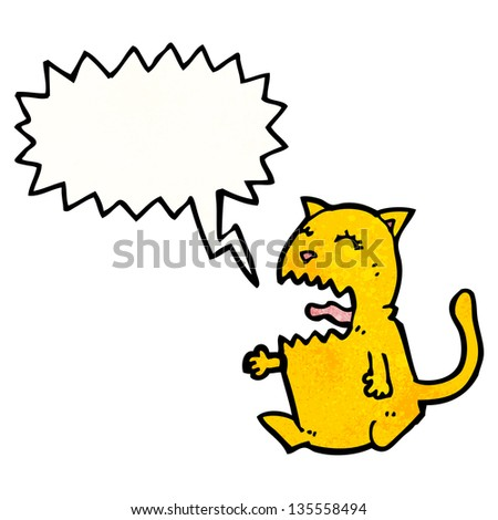shrieking cat cartoon