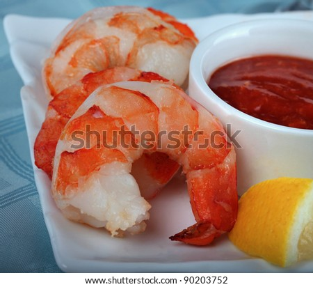 Shrimp and Cocktail Sauce - stock photo