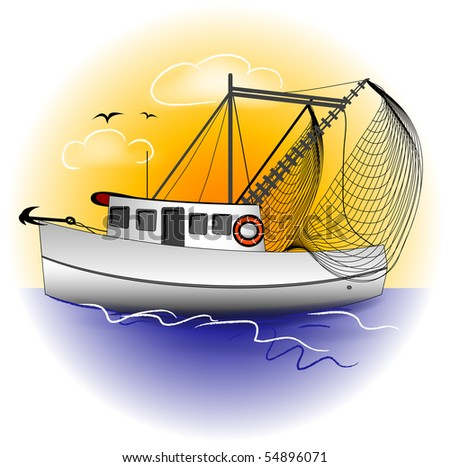 Shrimp Boat Graphic
