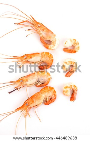 shrimp boil orange isolated on white background.