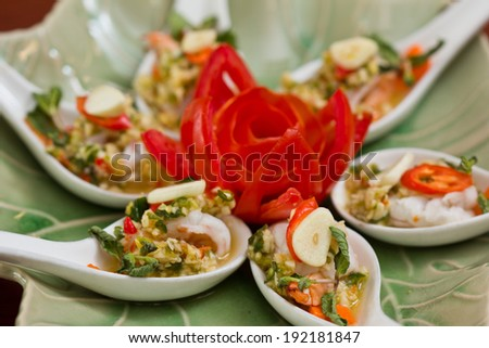 shrimp in fish sauce,hot and spicy shrimp in fish sauce,hot and spicy
