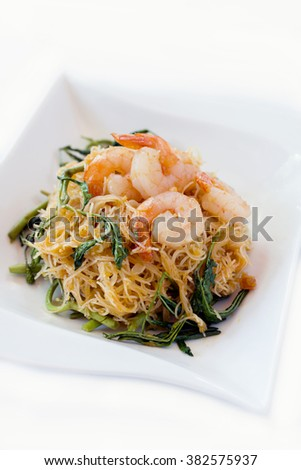 shrimp Rapporteur fried noodles