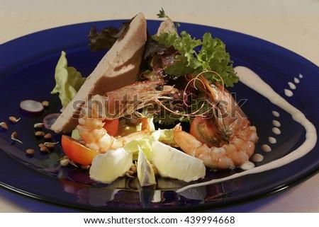 Shrimp salad appetizer - stock photo