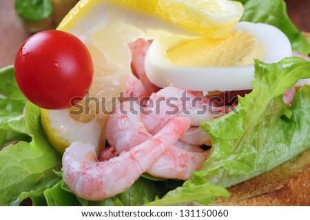 Shrimp sandwich - stock photo
