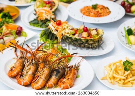 Shrimp sea food - stock photo