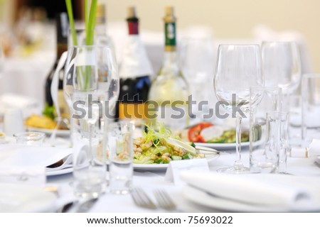 Shrimp table at an event party or wedding reception