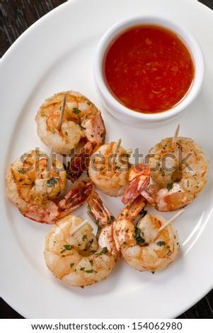 shrimps appetizer - stock photo