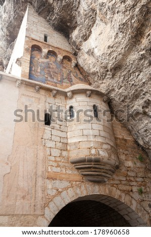 Shrine of Our Lady of Rocamadour (France) - stock photo