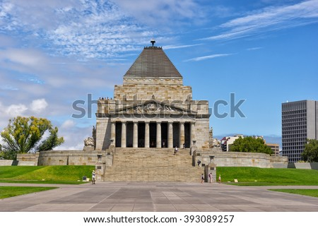 Shrine of Rememberance in Melbourne