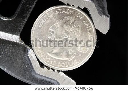 Shrinking The Budget - stock photo