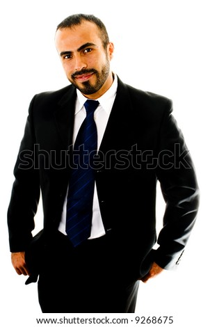 Shrugging Suit Guy - stock photo