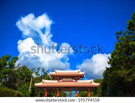 Shurei Gate in Shuri Castle - stock photo