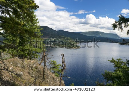 Shuswap Lake and Black Mountain, British Columbia, Canada