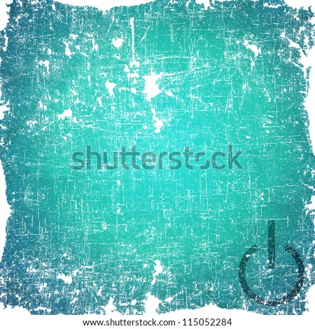 Shutdown icon on old paper background and textured - stock photo
