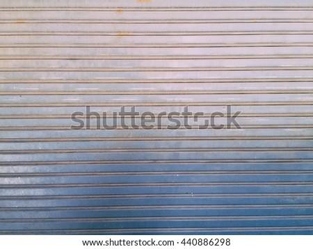 Shutter door or roller door use for background and texture. - stock photo