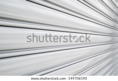 Shutter door, used for factories and warehouses. - stock photo