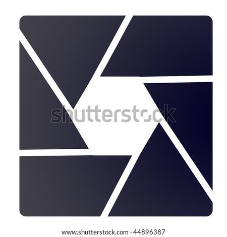 shutter frame - stock photo