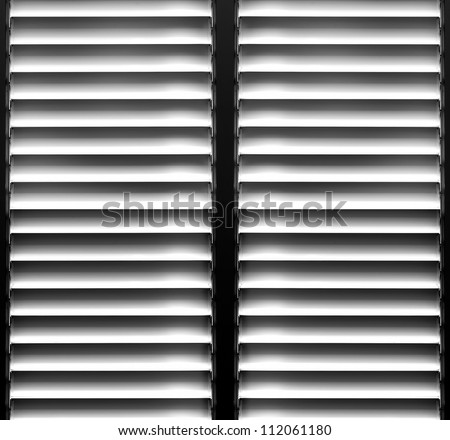 Shutters window background - stock photo