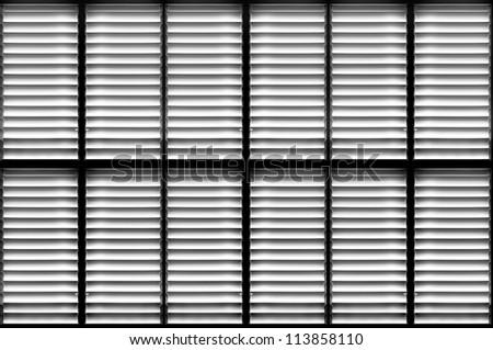 Shutters window background - stock photo