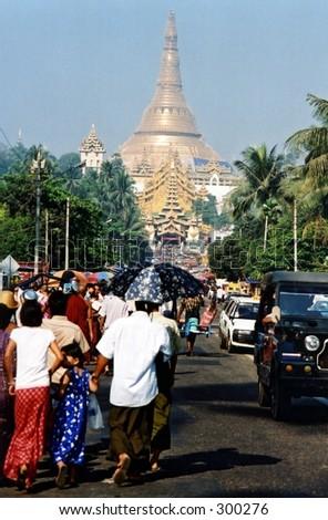 Shwedagon Pagoda, Yangon - stock photo