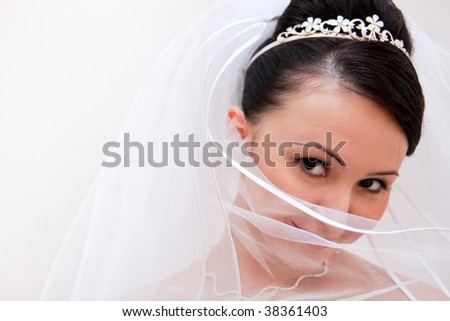 shy bride is cover veil
