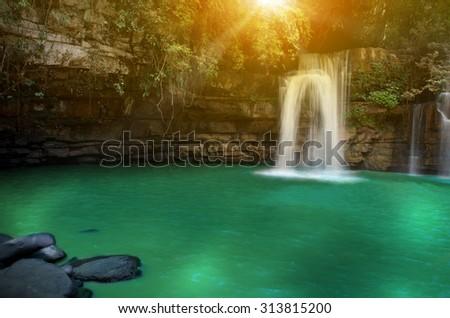 Si Dit Waterfall, Phetchabun, Thailand - stock photo