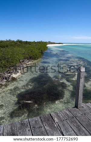 Sian Ka'an Biosphere Reserve - stock photo